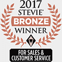 Stevie Awards Bronze Winner For Sales And Customer Service 2017